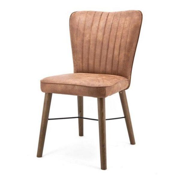 2 x Chiba Spisebordsstole H90 cm - Cognac