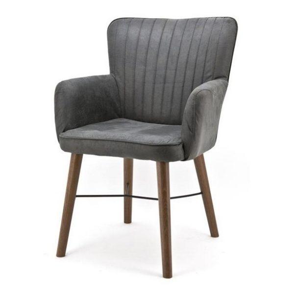2 x Chiba Spisebordsstole med armlæn H92 cm - Antracit
