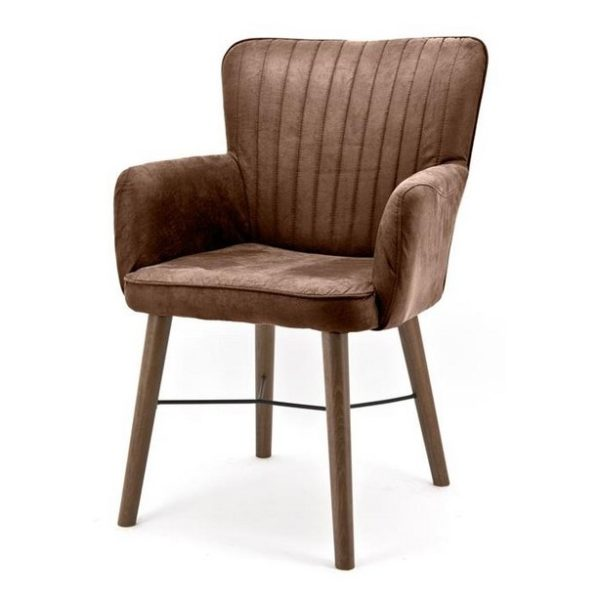 2 x Chiba Spisebordsstole med armlæn H92 cm - Brun