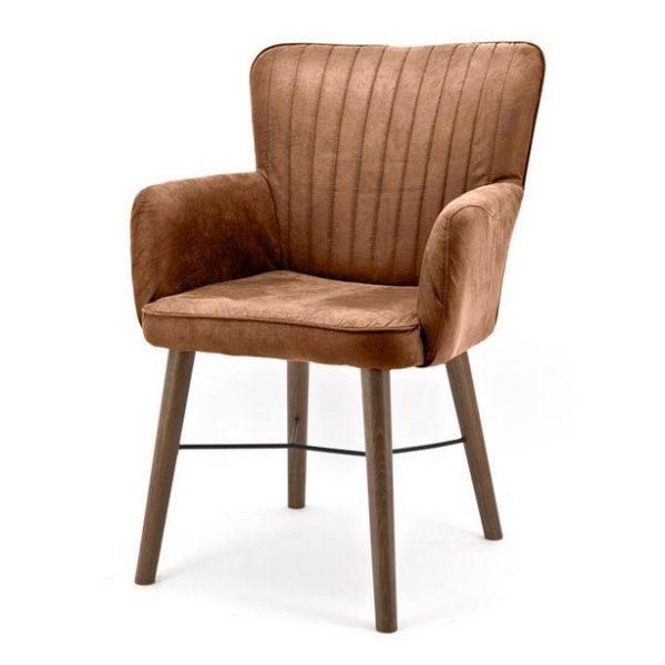2 x Chiba Spisebordsstole med armlæn H92 cm - Cognac