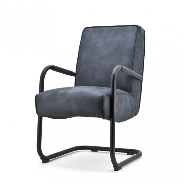 2 x Elburg spisebordsstole med armlæn H90 cm - Blå