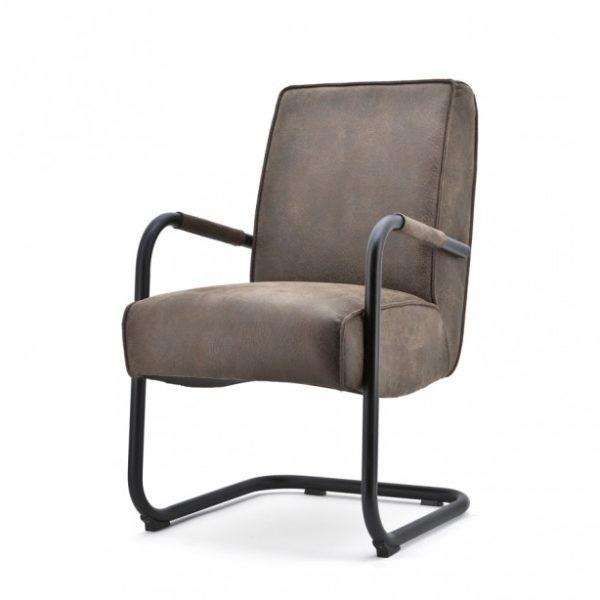 2 x Elburg spisebordsstole med armlæn H90 cm - Brun