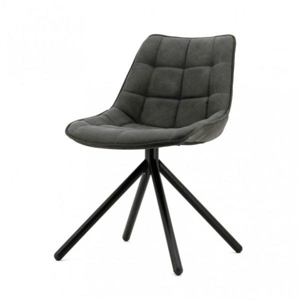 2 x Ella spisebordsstole i polyester H82 cm - Antracit