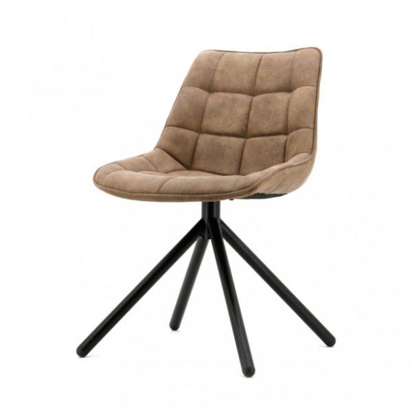 2 x Ella spisebordsstole i polyester H82 cm - Brun