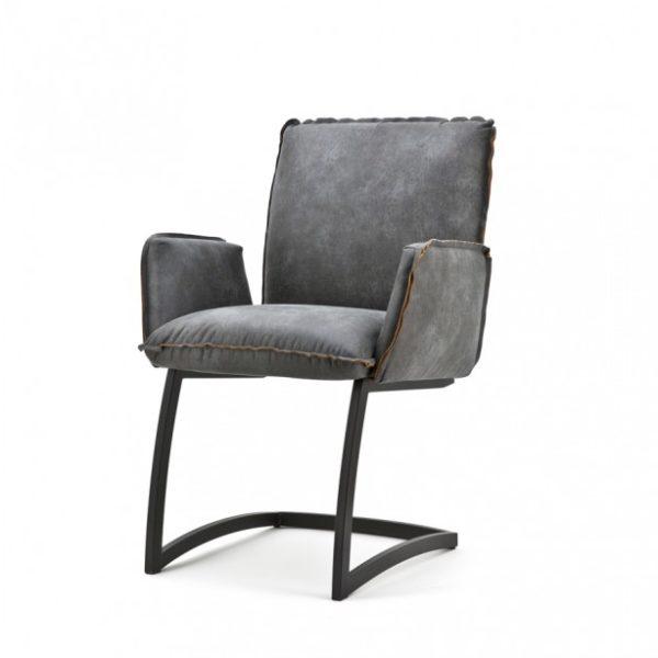 2 x Joel spisebordsstole med armlæn H87 cm - Antracit