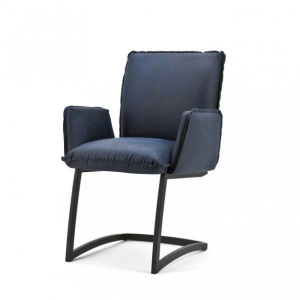 2 x Joel spisebordsstole med armlæn H87 cm - Blå