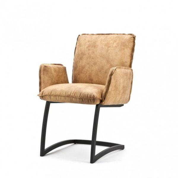 2 x Joel spisebordsstole med armlæn H87 cm - Cognac