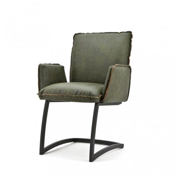 2 x Joel spisebordsstole med armlæn H87 cm - Grøn