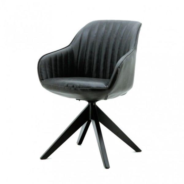 2 x Jules spisebordsstole med armlæn H84 cm - Antracit