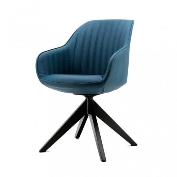 2 x Jules spisebordsstole med armlæn H84 cm - Blå