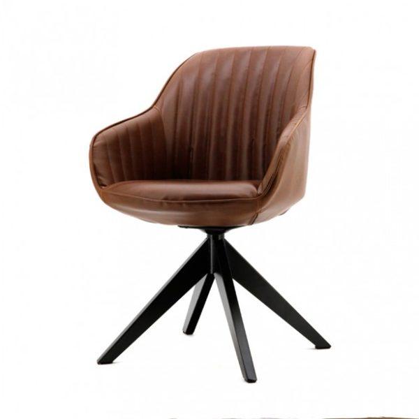 2 x Jules spisebordsstole med armlæn H84 cm - Brun