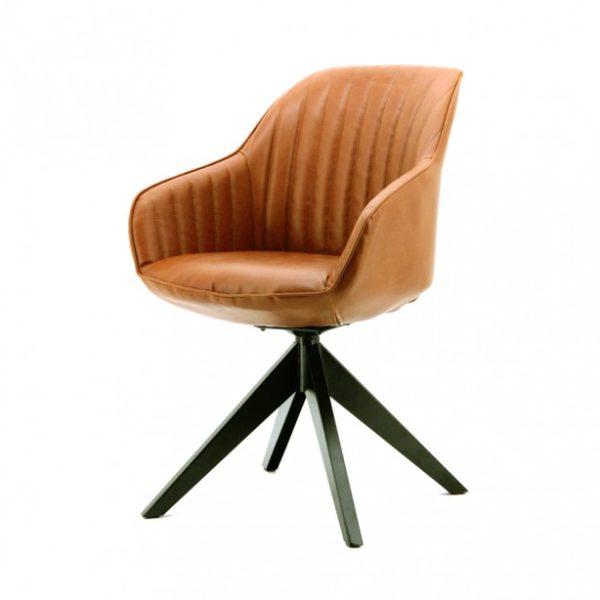 2 x Jules spisebordsstole med armlæn H84 cm - Cognac