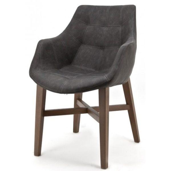2 x Neba Spisebordsstole med armlæn H90 cm - Antracit