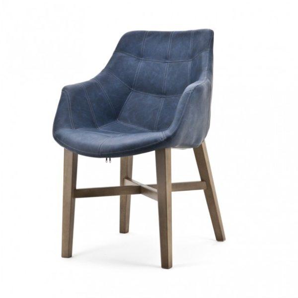 2 x Neba Spisebordsstole med armlæn H90 cm - Blå
