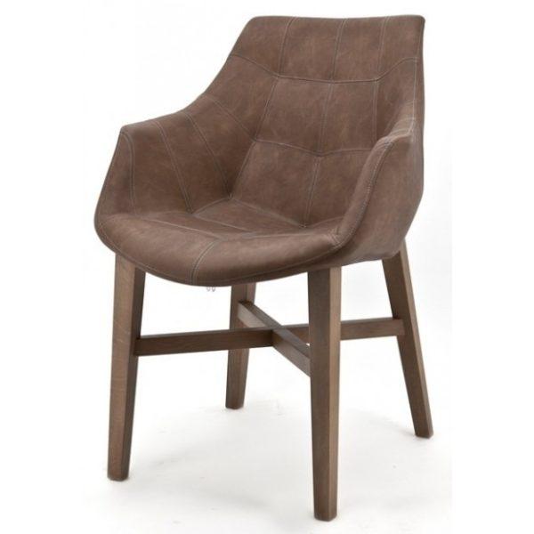 2 x Neba Spisebordsstole med armlæn H90 cm - Brun