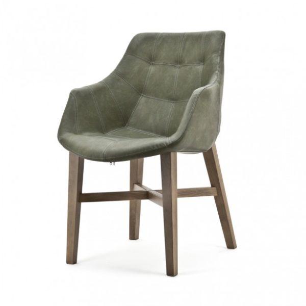 2 x Neba Spisebordsstole med armlæn H90 cm - Grøn