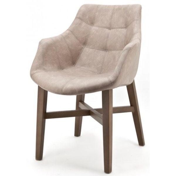 2 x Neba Spisebordsstole med armlæn H90 cm - Sand