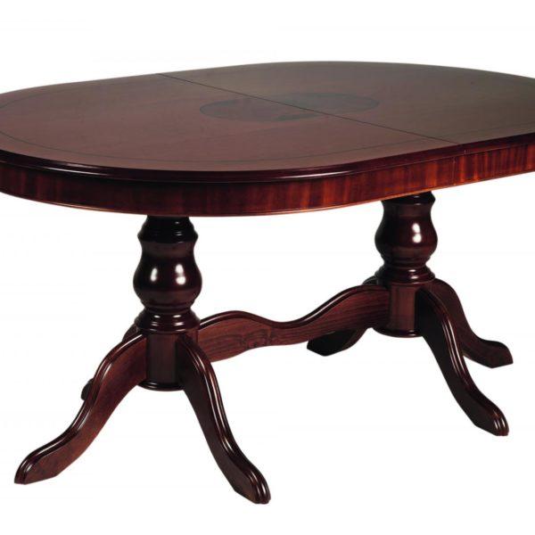 Amadeus spisebord - valnøddebrunt træ, oval incl. 2 tillægsplader (160x110)