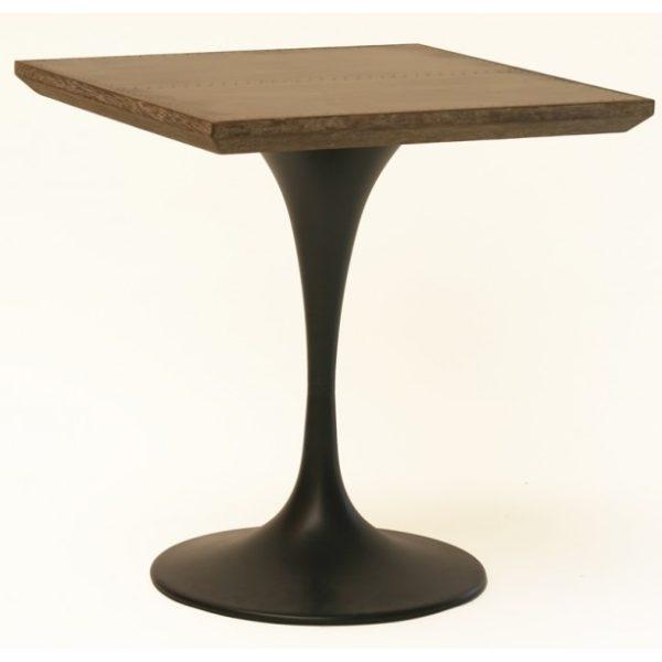 Bistro spisebord i jern og egetræ H77 x 70 x 70 cm - Natur/Sort