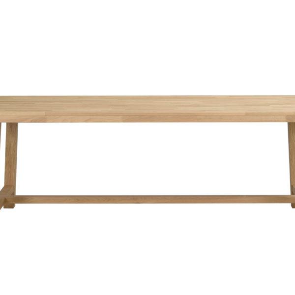 Brooklyn spisebord - børstet eg m. udtræk (220x95)