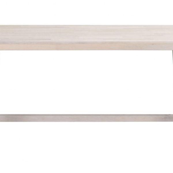 Brooklyn spisebord - hvidpigmenteret eg m. udtræk (170x95)