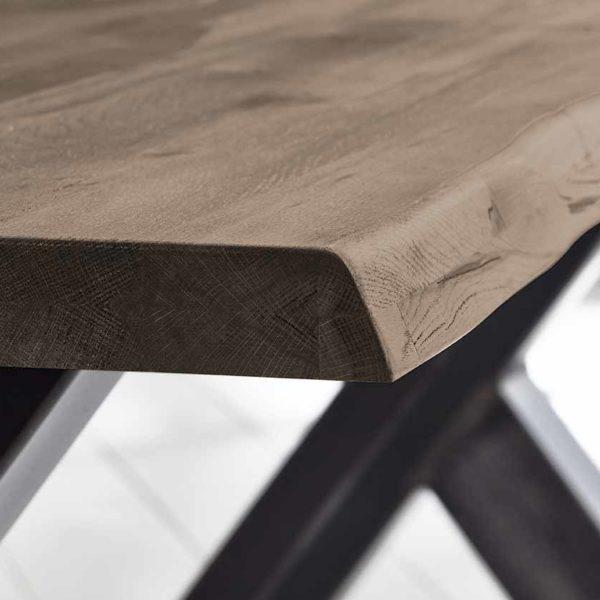 Concept 4 You Plankebord - Barkkant Eg med Steven ben, m. udtræk 3 cm 240 x 100 cm 02 = smoked