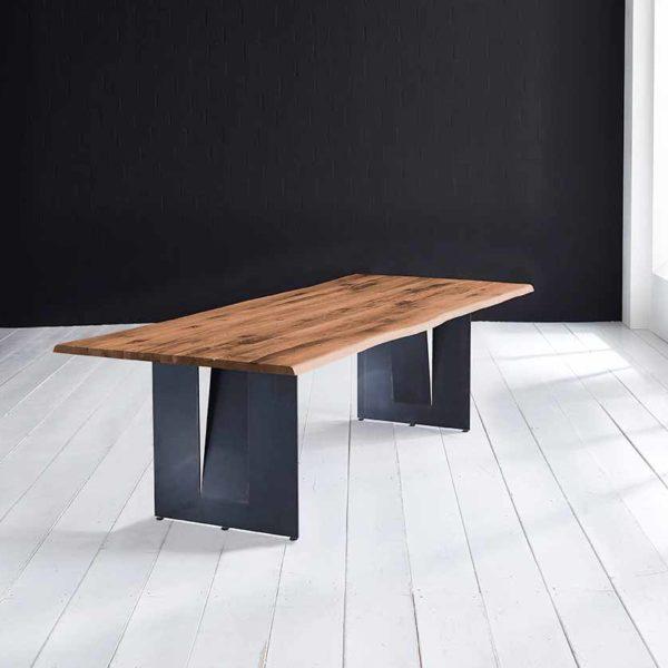 Concept 4 You Plankebord - Barkkant Eg med Steven ben, m. udtræk 3 cm 260 x 100 cm 06 = old bassano