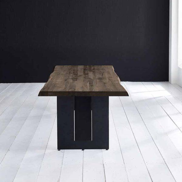 Concept 4 You Plankebord - Barkkant Eg med Steven ben, m. udtræk 6 cm 180 x 100 cm 02 = smoked