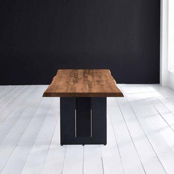 Concept 4 You Plankebord - Barkkant Eg med Steven ben, m. udtræk 6 cm 180 x 100 cm 06 = old bassano
