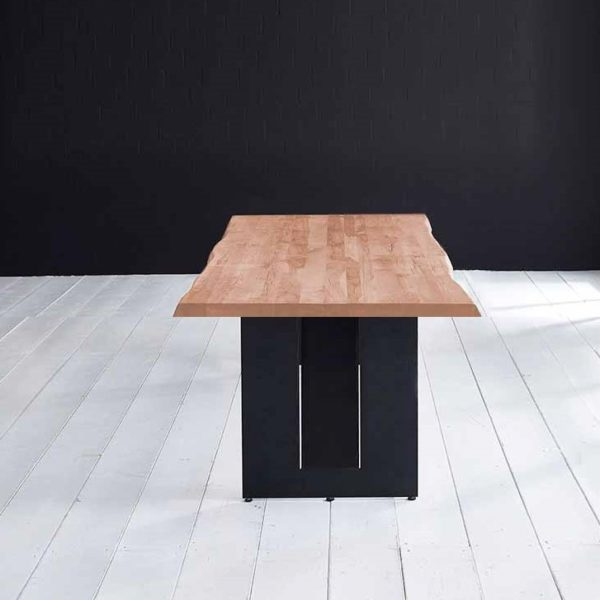 Concept 4 You Plankebord - Barkkant Eg med Steven ben, m. udtræk 6 cm 240 x 100 cm 03 = white wash