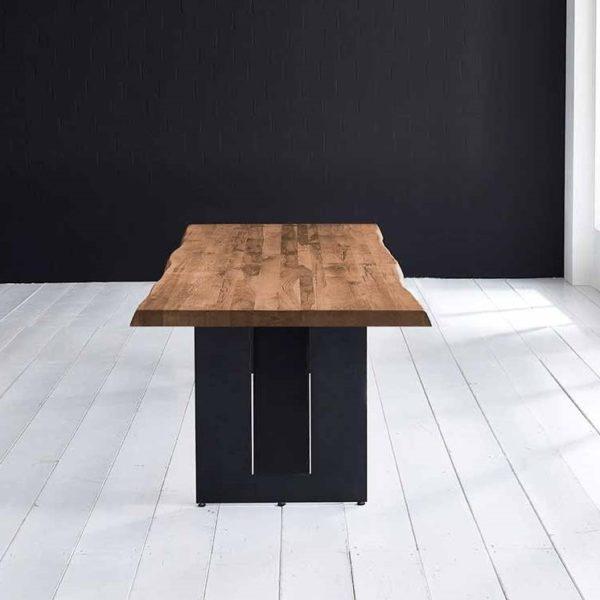 Concept 4 You Plankebord - Barkkant Eg med Steven ben, m. udtræk 6 cm 300 x 100 cm 01 = olie