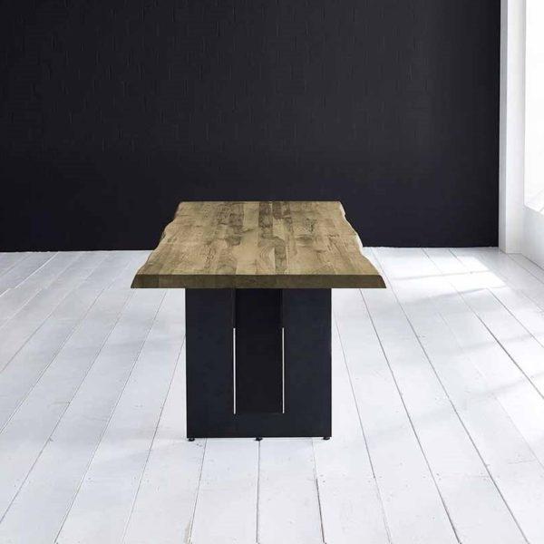 Concept 4 You Plankebord - Barkkant Eg med Steven ben, m. udtræk 6 cm 300 x 100 cm 05 = sand
