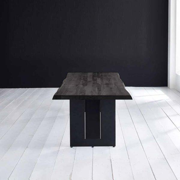 Concept 4 You Plankebord - Barkkant Eg med Steven ben, m. udtræk 6 cm 300 x 100 cm 07 = mocca black