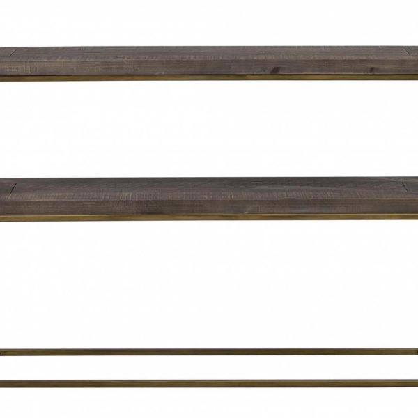 Dalton konsolbord - brunt træ/metal, m. 1 hylde
