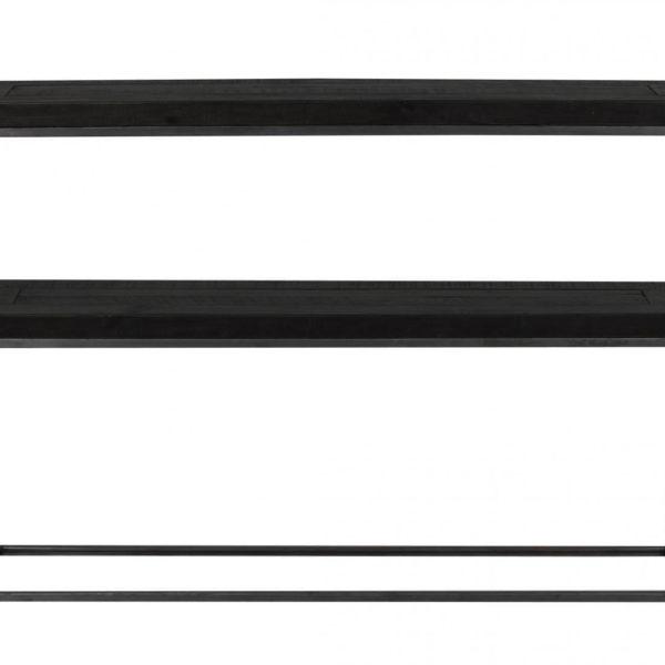 Dalton konsolbord - sort træ og metal, m. 1 hylde