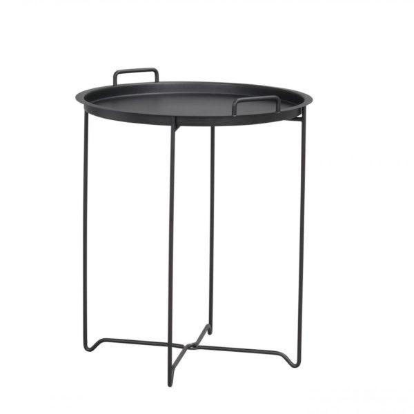 Dover bakkebord - sort metal, rundt (Ø45)