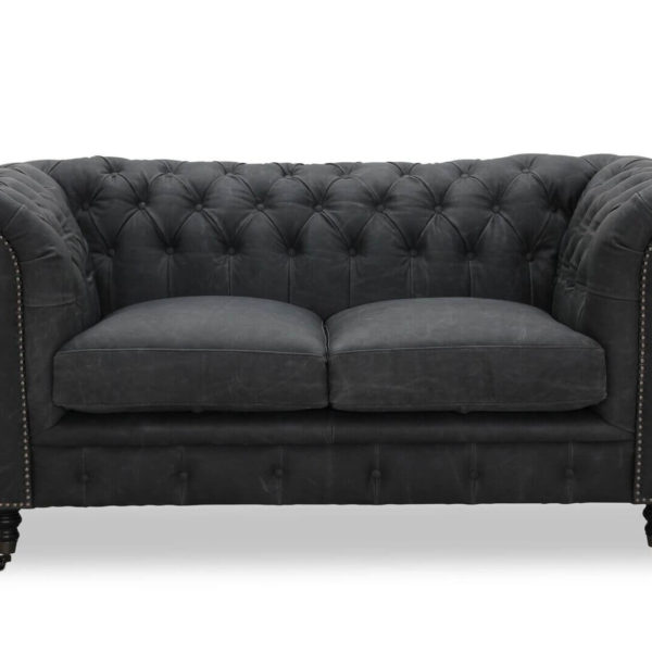 HAGA Cambridge 2 pers. sofa - sort læder