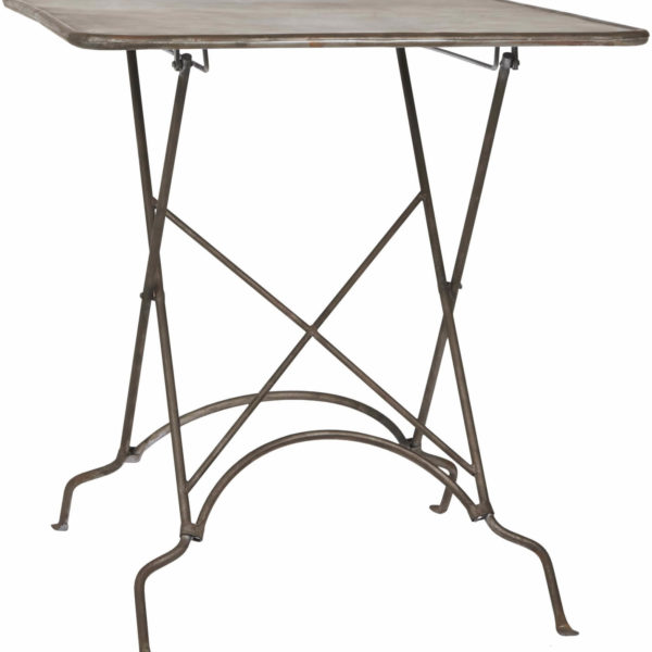 IB LAURSEN Firkantet cafébord, sort metal