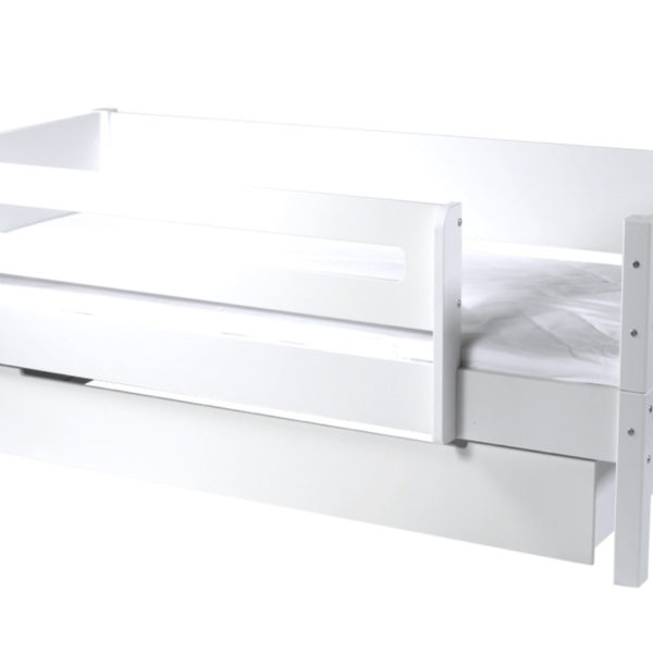 MANIS-H Max børneseng - m. skuffe og sengehest, hvid (160x90)