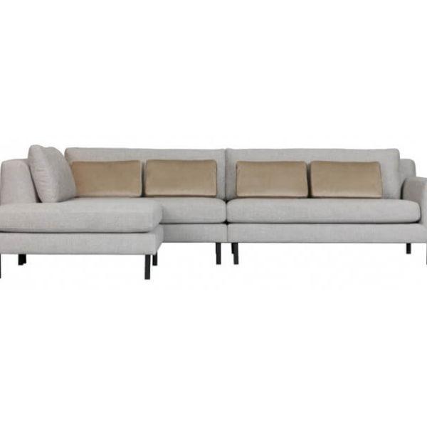 Moderne hjørnesofa med chaiselong 282 x 198 cm - Lysegrå
