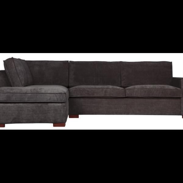 Moderne hjørnesofa med chaiselong 283 x 197 cm - Mørkegrå