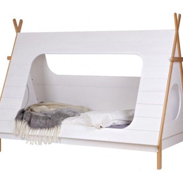 Tipi børneseng 215 x 106 cm ekskl. bund - Hvid